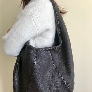 Bottega Veneta Brown Leather Hobo Bag